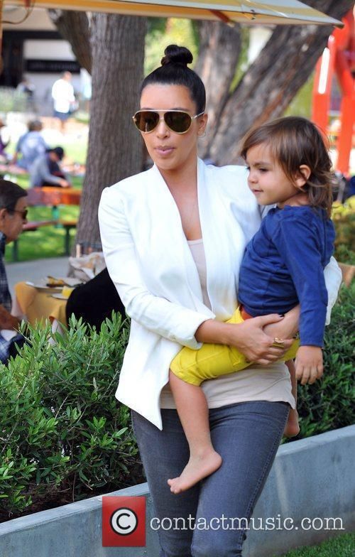 Kim Kardashian and Mason 4