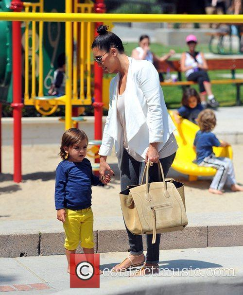 Kim Kardashian and Mason 6