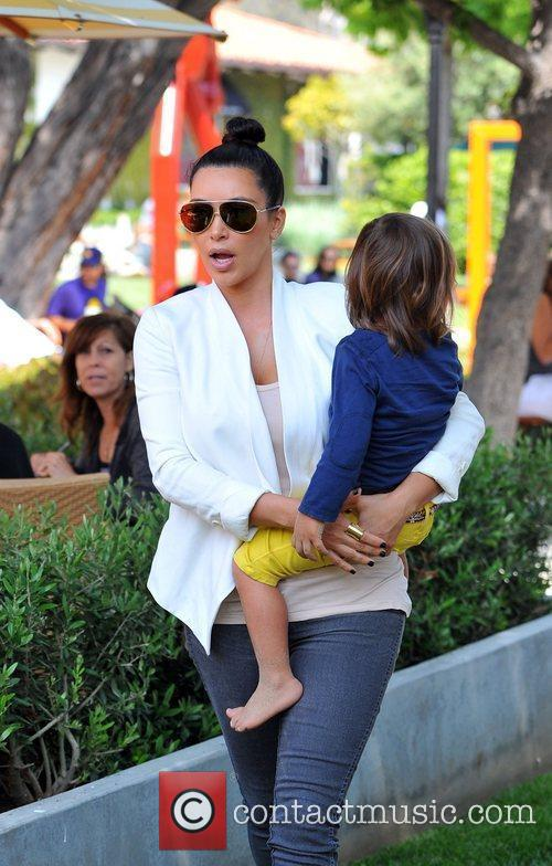 Kim Kardashian and Mason 7