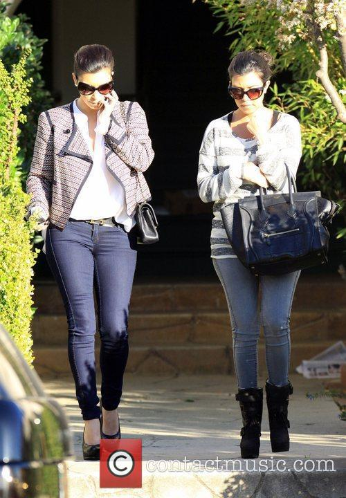 Kim Kardashian and Kourtney Kardashian 2