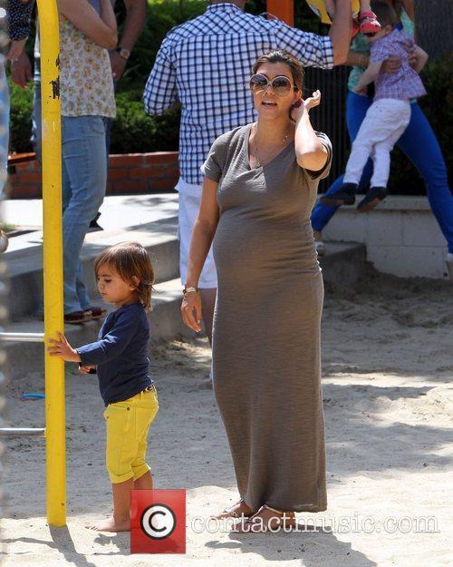 Kourtney Kardashian and Mason 3