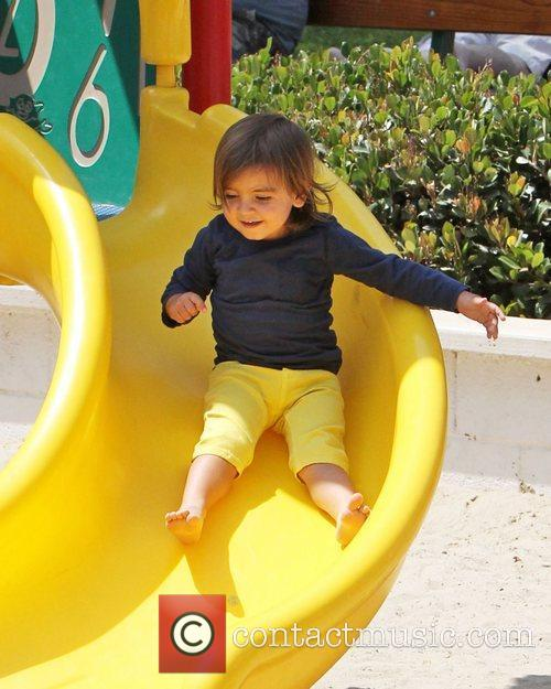 Mason Disick enjoys a family day out in...