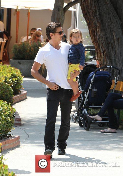 Scott Disick and his son Mason Disick enjoy...