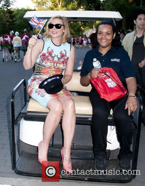 Kim Cattrall hosts 'The Great British Run' in...