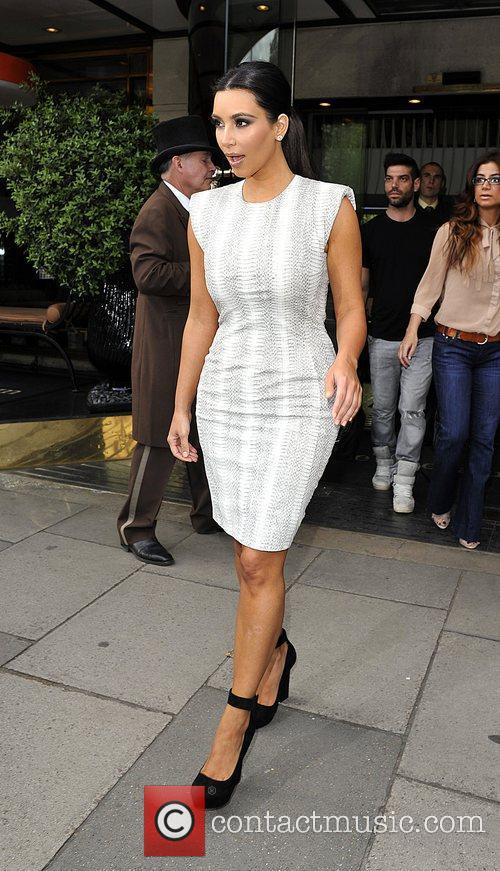 Kim Kardashian is seen leaving her hotel.