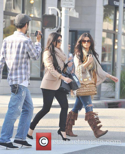 kim kardashian and a friend are seen 5776450