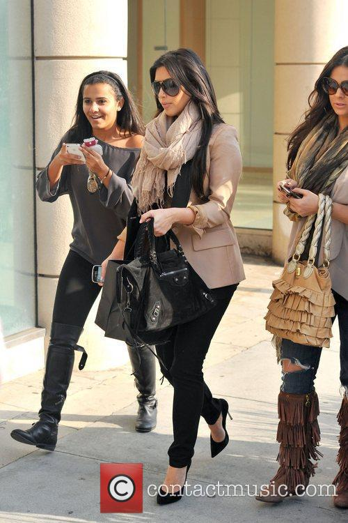 kim kardashian and a friend are seen 5776453