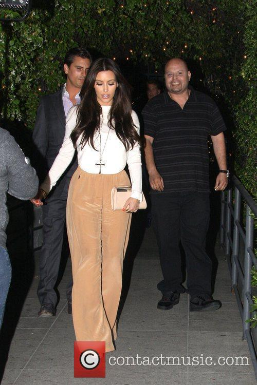 Kim Kardashian is seen leaving STK Steakhouse in...