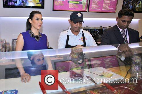 kim kardashian promotes her signature milkshake during 5961050
