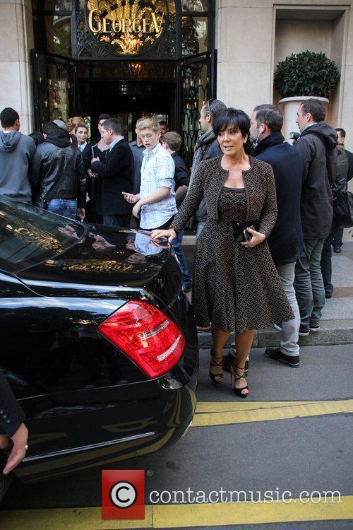 Kris Jenner leaves the Georges V hotel in...