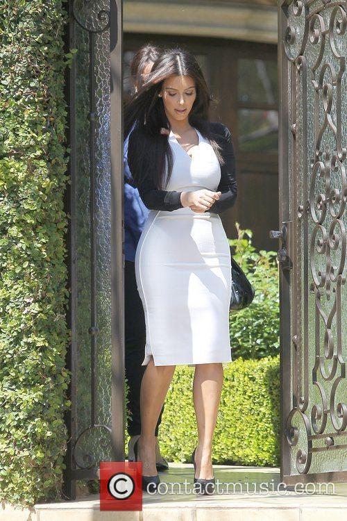 Kim Kardashian leaving home for an appointment in...