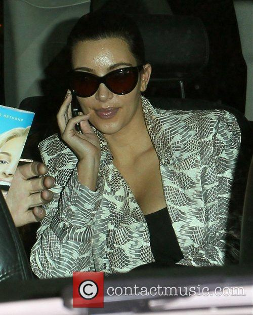 Kim Kardashian arrives at LAX airport after flying...