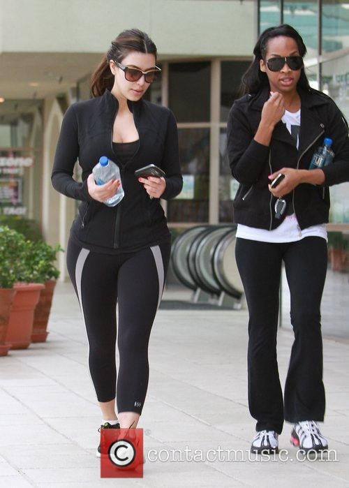 kim kardashian heading to the gym in 5795302