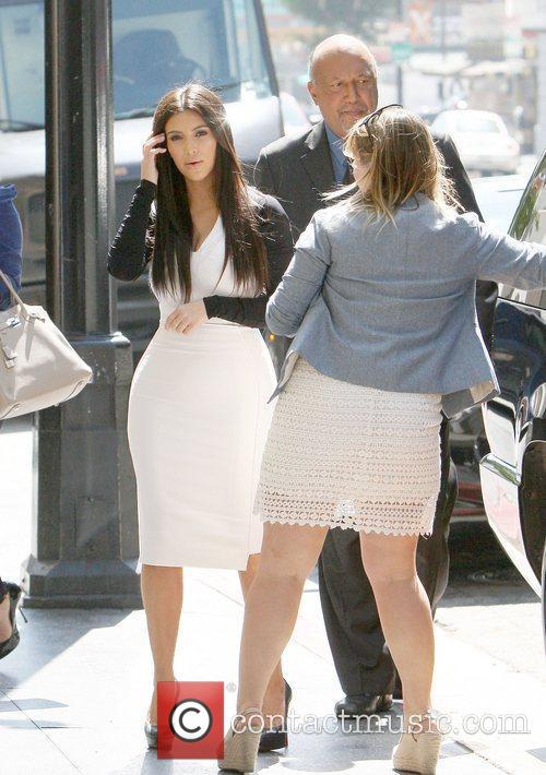Kim Kardashian arriving at an appointment in Hollywood...