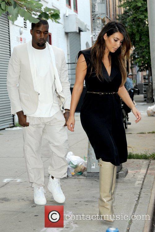 kim kardashian and kanye west leaving a 5903221