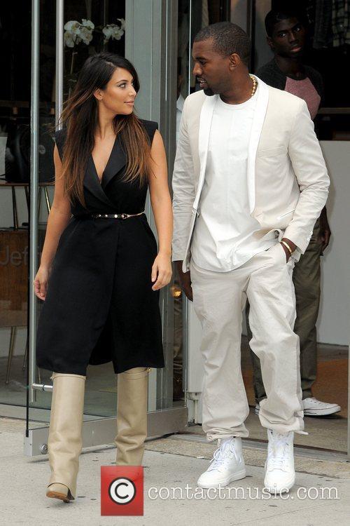 kim kardashian and kanye west looking as 5903207