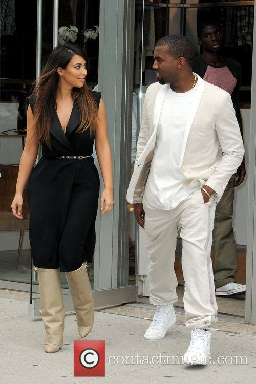 kim kardashian and kanye west looking as 5903208