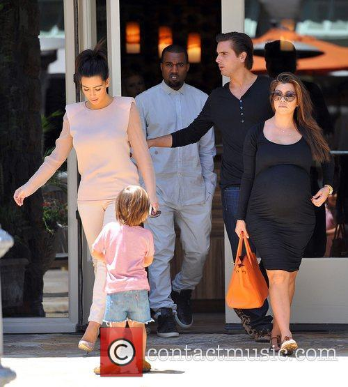 Mason, Kanye West, Kim Kardashian, Kourtney Kardashian and Scott Disick 2