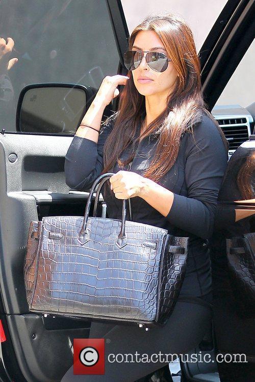 kim kardashian arriving at laser away in 5888710