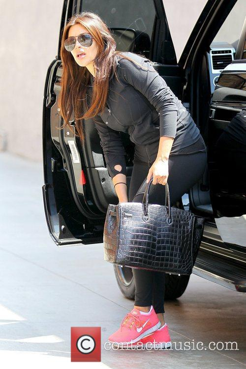 kim kardashian arriving at laser away in 5888720