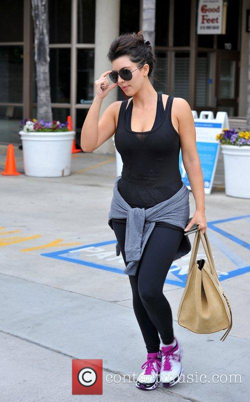 kim kardashian leaving a gym after working 5839921