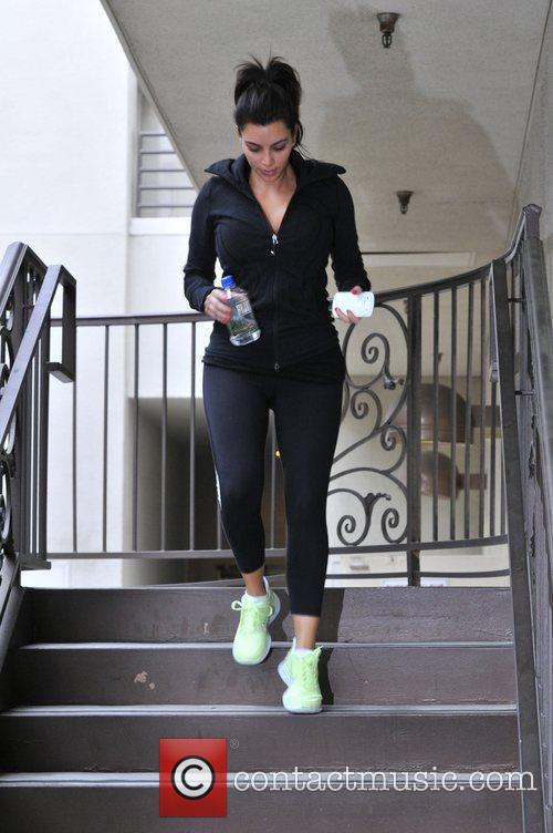 kim kardashian leaving the gym after a 3940391
