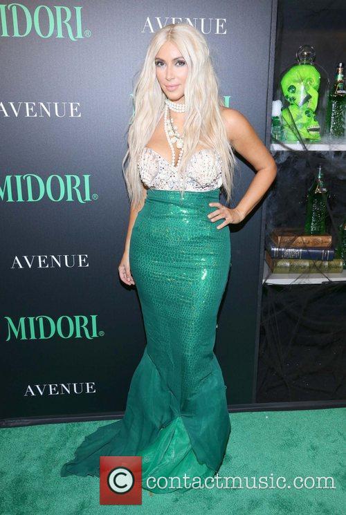 kim kardashian dressed as a mermaid attends 5943354