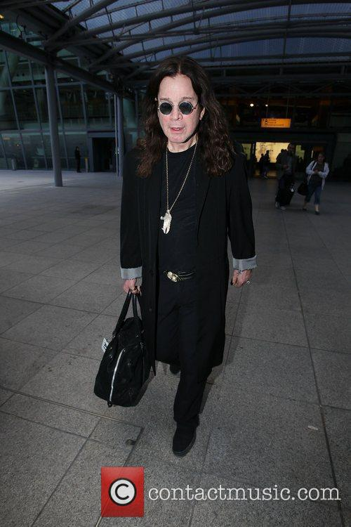 Ozzy Osbourne arriving at Heathrow Airport London, England