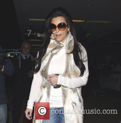 kim kardashian arriving at lax airport los 3696870