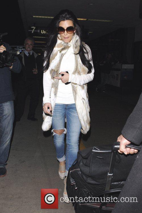 kim kardashian arriving at lax airport los 3696874