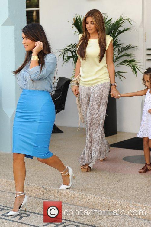 Exits the Webster Hotel with Larsa Pippen and...