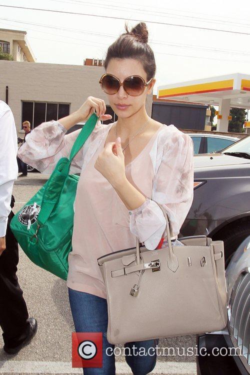 Kim Kardashian arrives at a spa in Beverly...