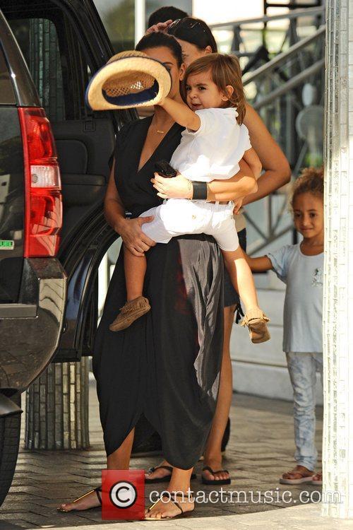 Kim Kardashian, Mason Disick and Sophia Pippen 3