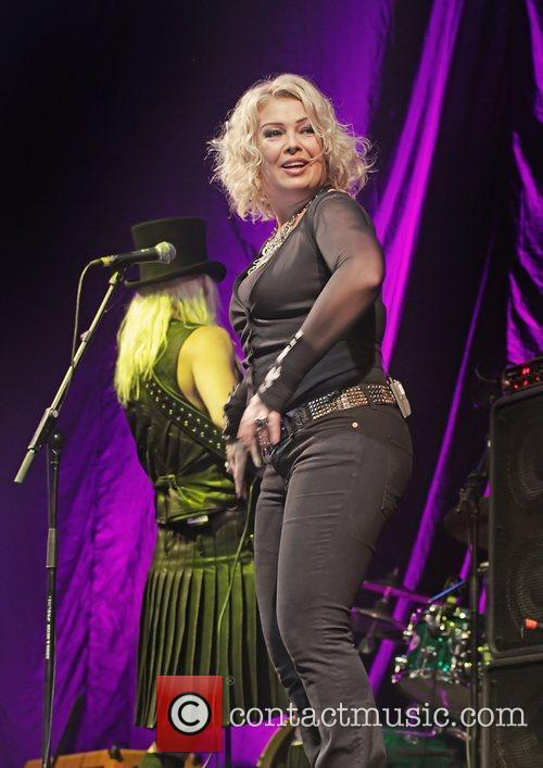 Kim Wilde performing at Liverpool Echo Arena