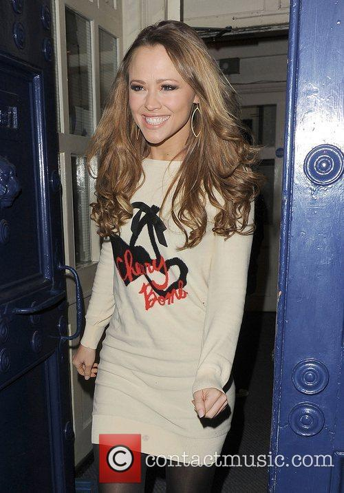 Kimberley Walsh leaving the Theatre Royal, after her...