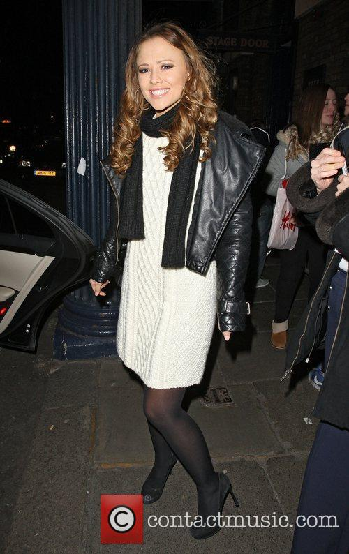 Kimberley Walsh leaving the Theatre Royal after her...