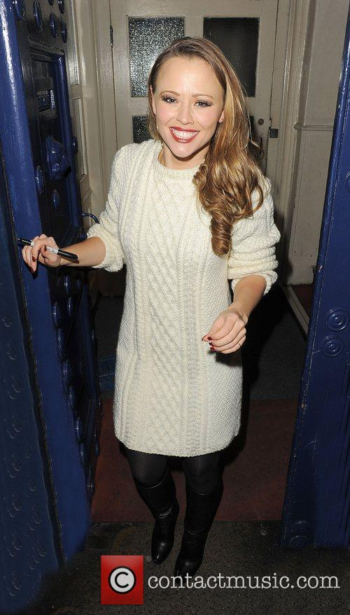 Kimberley Walsh leaving the Theatre Royal, having performed...