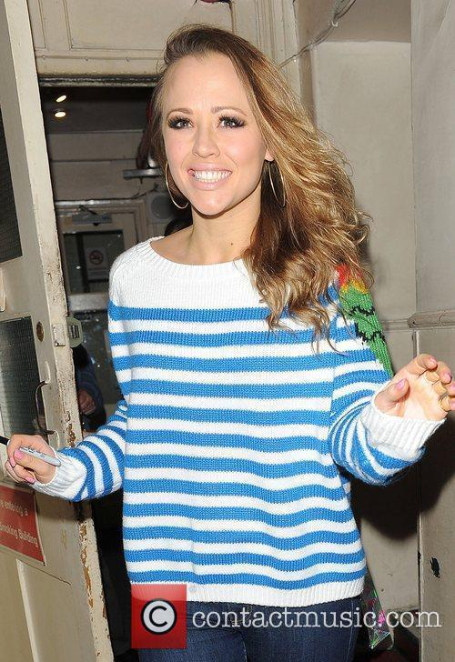 Kimberley Walsh leaving the Theatre Royal after performing...