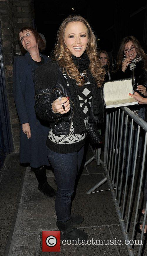 Kimberley Walsh leaving the Theatre Royal having performed...