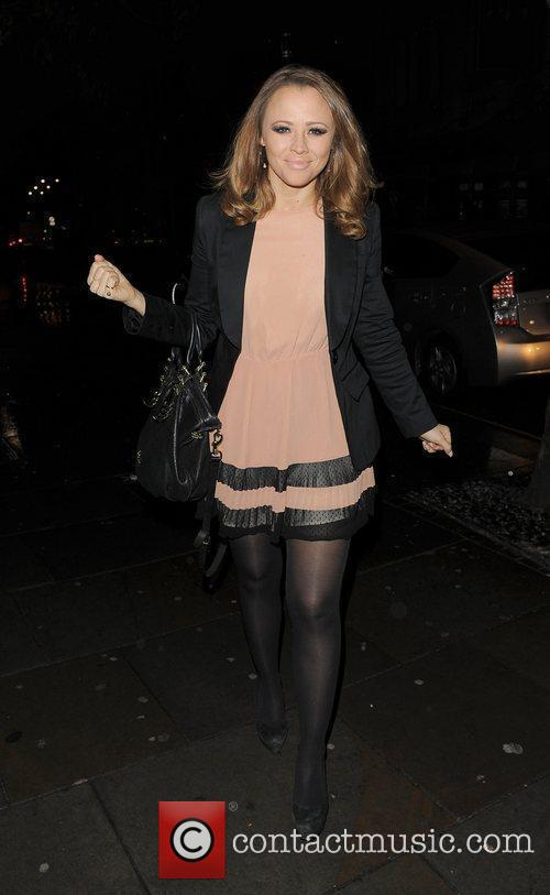 Kimberley Walsh enjoys a night out with friends...