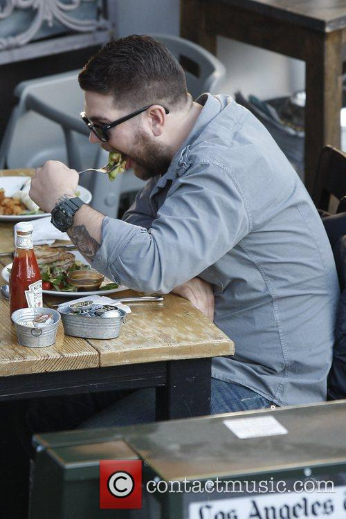 Jack Osbourne has lunch at Toast Cafe in...