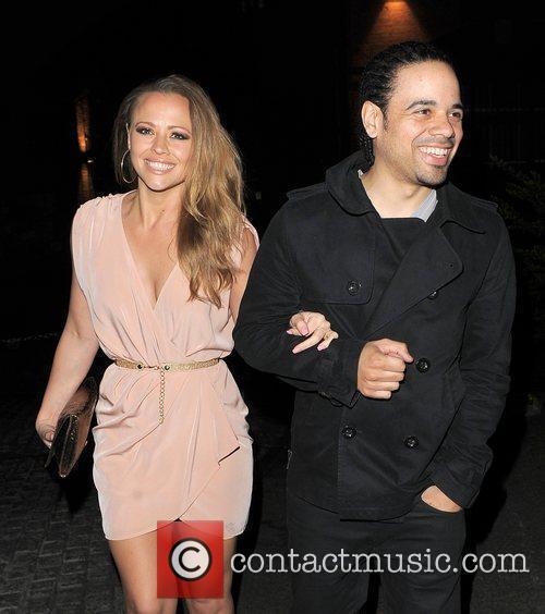 Kimberley Walsh and her boyfriend Justin Scott leaving...