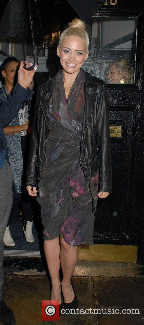 Kimberly Wyatt leaves the Theatre Royal Haymarket after...