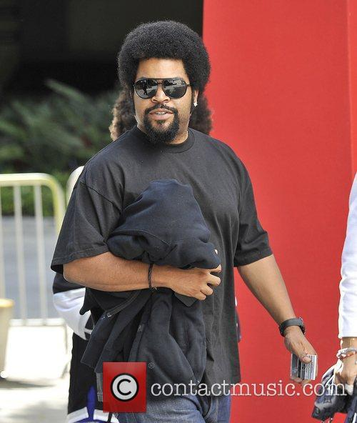 Rapper/actor Ice Cube,  arrive for Game Four...