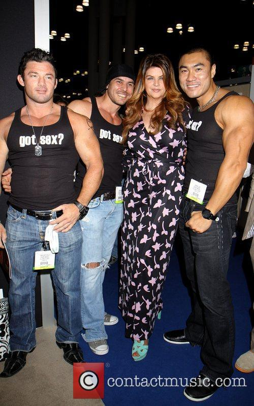 kirstie alley poses with male models kirstie 5860462