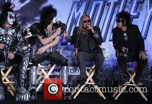 Gene Simmons, Nikki Sixx, Paul Stanley and Vince Neil