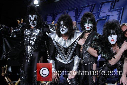 Gene Simmons, Tommy Thayer, Eric Singer and Paul...