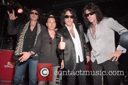 Of rock band Kiss at the launch of...