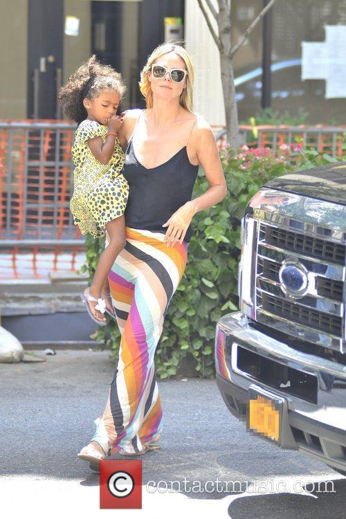 Heidi Klum and daughter Lou Sulola Samuel are...