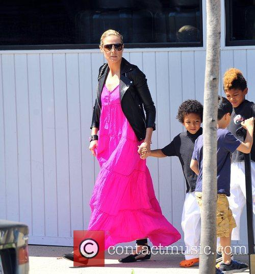 heidi klum and sons johan samuel and 3817367